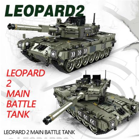 【入手困難】 レゴ互換 レオパルト2 主力戦車 ミニフィグ付き 西ドイツ 第二次世界大戦 WW2 戦争 ミリタリー LEGO風 知育玩具 男の子 海外 【プレゼントにも】