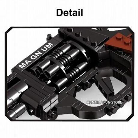 【レゴ互換】拳銃 マグナム リボルバー 撃てる ピストル【LEGO風】