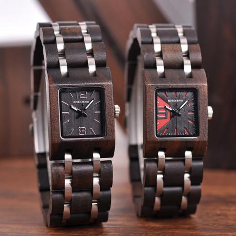 ガールフレンドギフト BOBO BIRD 木製腕時計 25mm 小さめ レディース かわいい木製ギフトボックス付き ボボバード クォーツ 海外トップブランド プレゼントにも S03 選べる3色