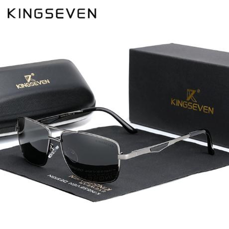 【2020】 KINGSEVEN スクエアサングラス メンズ 偏光レンズ UV400 ポラロイド クラシック 高級 軽量 海外トップブランド N7906 【選べる3色】