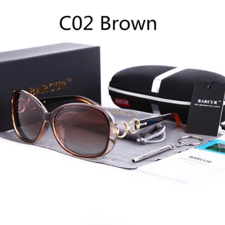 【個性的で可愛い】 BARCUR サングラス レディース デザイナー 偏光レンズ UV400 ポラロイド 高級 旅行 ドライブ 運転 ビーチ ファッション 海外トップブランド 【選べる3色】