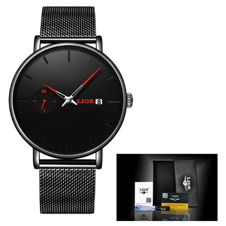【LIGE】腕時計 レディース 防水 クォーツ 日付表示 ステンレスメッシュベルト 発光 ルミナスハンズ 海外トップブランド エレガント 選べる4色
