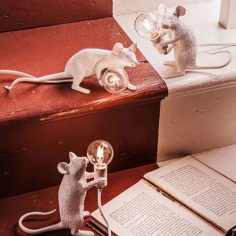 【ナイトライト】 マウス ミニ ホワイト デスク テーブルランプ LED 【3種類】