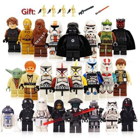 レゴ互換 スターウォーズ ミニフィグ 豪華24体+プレゼント付き バトルドロイド STAR WARS フィギュア 人形 武器 大人気 LEGO風★