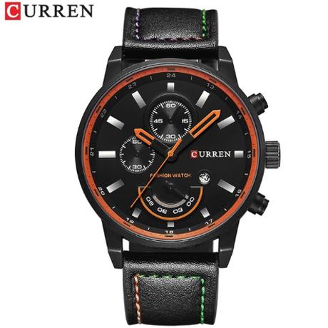 CURREN カレン 防水 メンズ 腕時計 日付表示 革ベルト 日本製クォーツ 海外高級ブランド 選べる3色