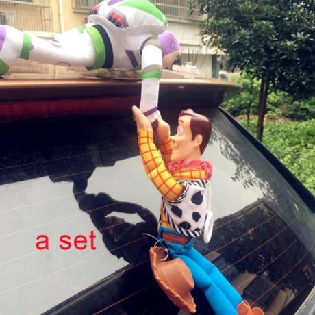 トイストーリー Woody&Buzz フィギュア カーアクセサリー ウッディー バズ 大人気 ぬいぐるみ 約30cm