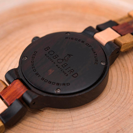BOBO BIRD 曜日 日付表示 カラフルウッドバンド クォーツ 木製腕時計 レディース メンズ ボボバード 海外高級ブランド プレゼントにも