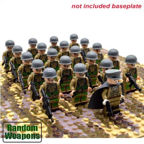 【レゴ互換】 アメリカ軍 兵士 ミニフィグ 大量50体+武器セット