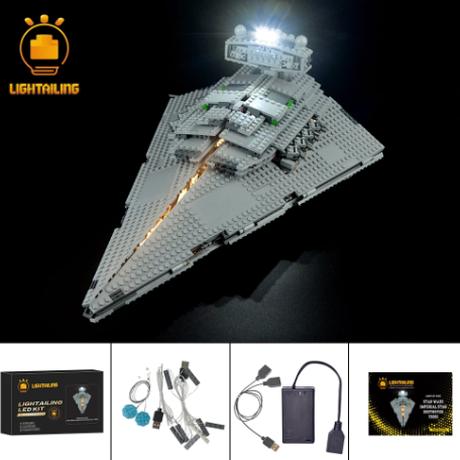レゴ スターウォーズ 75055 インペリアル スターデストロイヤー 互換 LEDライトキット バッテリーボックス ライトアップ セット