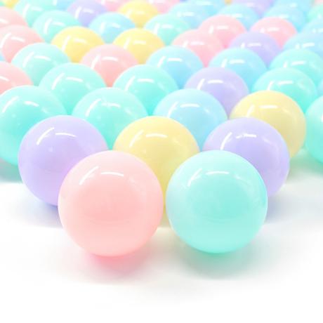 【ボールプール】 ボール パステルカラー 50個入り ベビーサークル キッズテント カラフル 安全な素材 【直径6cm】
