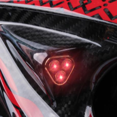 プレデター ヘルメット バイク フルフェイス カーボンファイバー PREDATOR S,M,L,XL,XXLサイズ 映画 キャラクター アニメ エイリアン 高性能 赤色LEDライト搭載