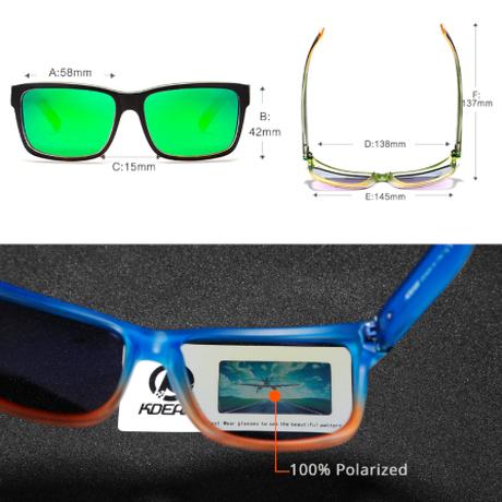 【フォトクロミック】 KDEAM 調光 偏光サングラス メンズ 高性能 ポラロイド UV400 高級 軽量 ドライブ ロードバイク 海外トップブランド 箱付き 【ブラック】