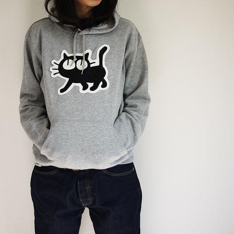 Relax Cat Sweat Pull Over Parka [Gray]
