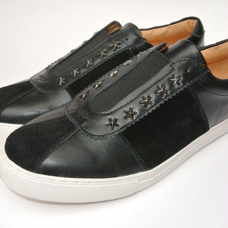 star studs slip-on BLACK