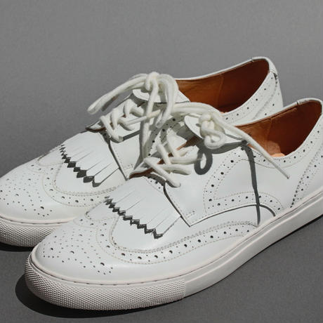 wing-tip smooth WHITE for MEN
