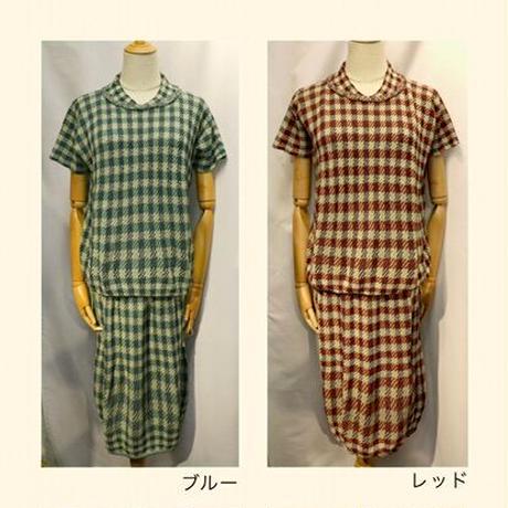 BUTAPANA☆綿・格子柄バルーンスカート