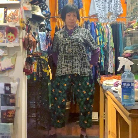 青衣☆ゆったりパンツ(藍染)