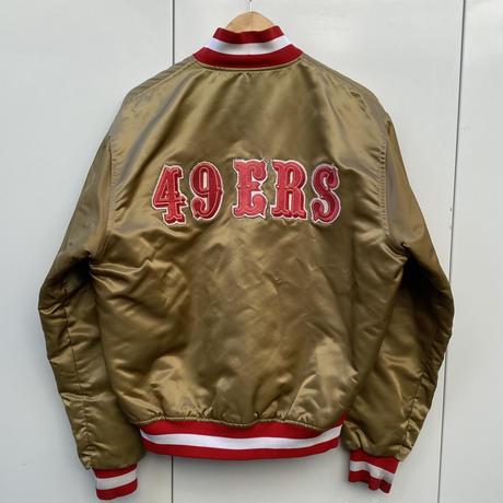 PROLINE by STARTER/プロライン スターター NFL サンフランシスコ49ers サテンスタジャン 90年代 Made In USA (USED)