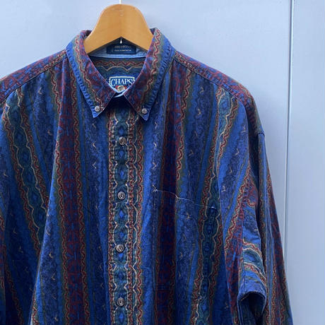 CHAPS RALPH LAUREN/チャップスラルフローレン 柄ストライプシャツ 90年代 (USED)