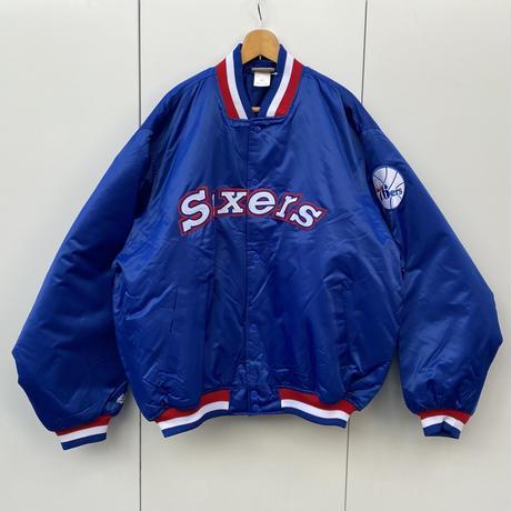 MAJESTIC NBA 76ers/マジェスティック シクサーズ サテンブルゾン 90年代 (DEADSTOCK)