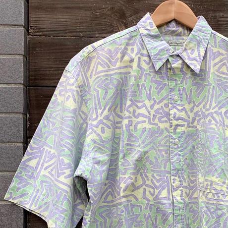 Bugle Boy/ビューグルボーイ コットン柄シャツ 90年代 (USED)
