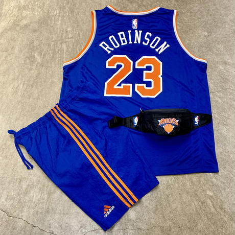 NBA KNICKS/ニューヨーク ニックス ウエストバッグ 90年前後 (USED)