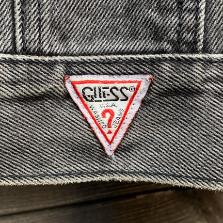 GUESS/ゲス ブラックデニムGジャン 90年代 Made In USA (USED)