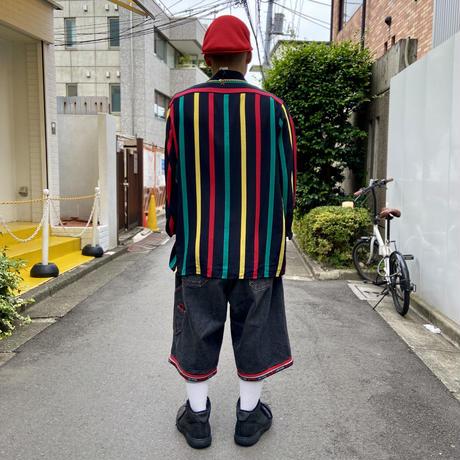 Genelli/ジェネリ シルクストライプシャツ 90年代 (USED)
