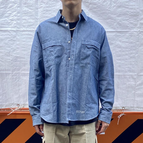 STUSSY/ステューシー WORKS シャンブレーシャツ 2000年前後 Made In USA (DEADSTOCK)