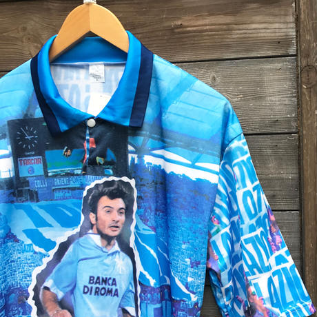 LAZIO CASIRAGHI/ラッツィオ カジラギ サッカーポロシャツ 90年代 Made In ITALY (DEADSTOCK)