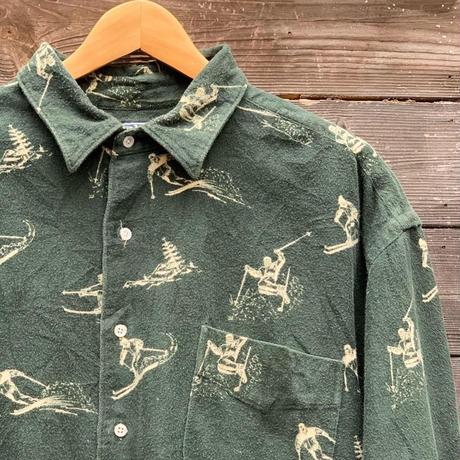 Polo Ralph Lauren/ポロラルフローレン プリントフランネル シャツ 90年代 (USED)