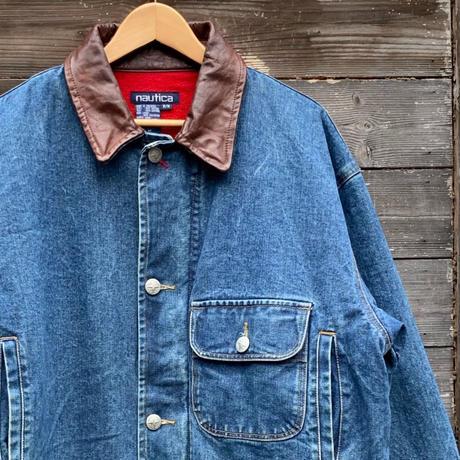 NAUTICA/ノーチカ デニムカバーオールジャケット 90年代  (USED)
