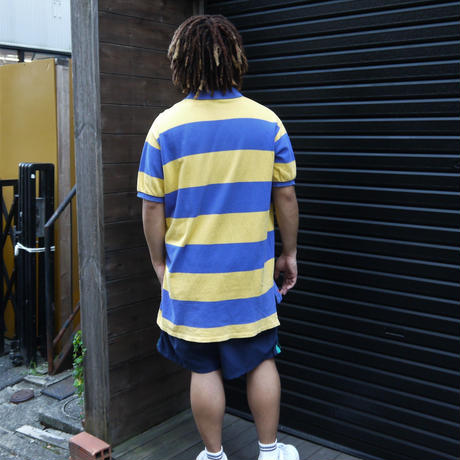 "PoloRalphLauren/ポロラルフローレン ""The Big Shirt"" 鹿の子ボーダーポロシャツ 90年代 Made In USA (USED)"