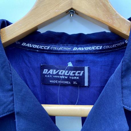 DAVOUCCI/ダボウッチ 総柄デザイン ポリエステルシャツ 90年代 (USED)
