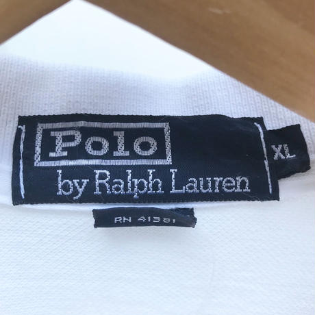 PoloRalphLauren/ポロラルフローレン ダブルフラッグ 鹿の子ポロシャツ 90年代 Made In USA (USED)