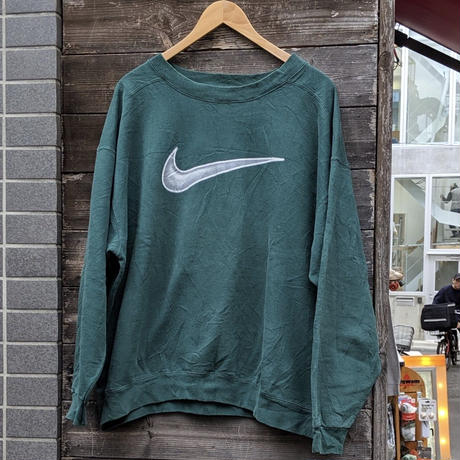 NIKE/ナイキ ビッグロゴスウェット 90年代 Made In USA (USED)