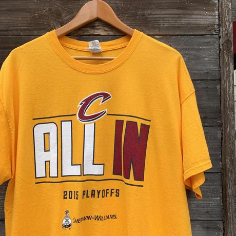 NBA  CLEVELAND CAVALIERS/クリーブランドキャバリアーズ Tシャツ 2015年 (USED)