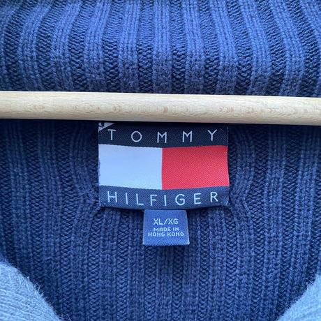 TOMMY HILFIGER/トミーヒルフィガー ハーフジップコットンセーター 90年代 (USED)