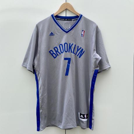 ADIDAS NBA NETS/アディダス ブルックリンネッツ 7 JOHNSON シューティングシャツ 2000年代 (USED)