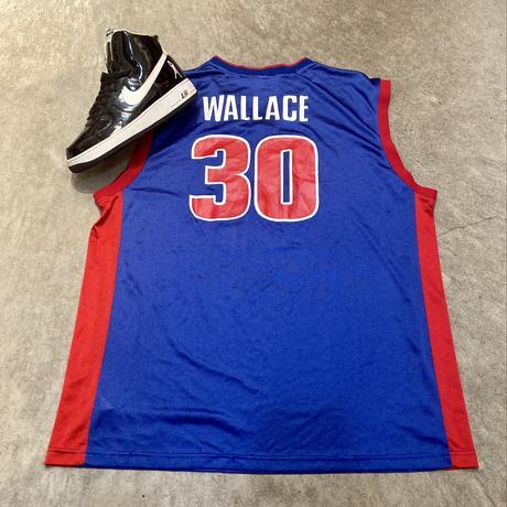 Reebok NBA PISTONS/リーボック デトロイトピストンズ バスケットタンクトップ  30 WALLACE 2000年代 (USED)
