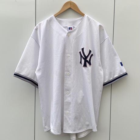 RUSSELL ATHLETIC NY YANKEES/ラッセル ニューヨークヤンキース ベースボールシャツ 90年代 (USED)