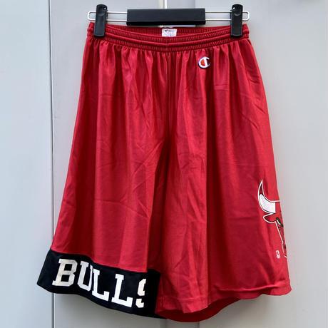Champion NBA BULLS/チャンピオン シカゴブルズ サテンバスケットショートパンツ 90年代 Made In USA (USED)