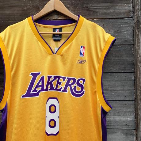 NBA LAKERS Reebok/レイカーズ リーボック バスケットタンクトップ 8 BRYANT 2000年代 (USED)