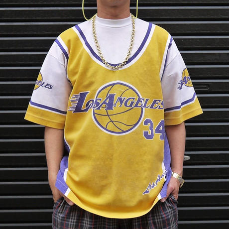 LOS ANGELES LAKERS/ロサンゼルスレイカーズ Tシャツ 90年代 Made In USA (USED)