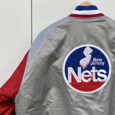 MAJESTIC NBA NEW JERSEY NETS/マジェスティック ニュージャージーネッツ サテンブルゾン 90年代 (DEADSTOCK)