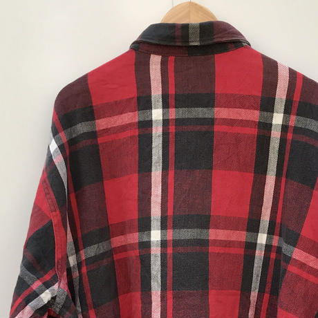 ST.JOHN'S BAY/セントジョンズベイ チェックヘビーネルシャツ 90年代 (USED)