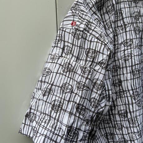 ECKO UNLIMITED/エコーアンリミテッド 総柄デザイン ポリエステルシャツ 90年代 (USED)