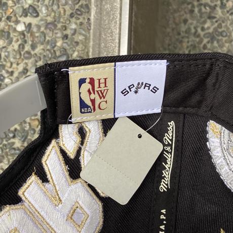 MITCHELL & NESS NBA SPURS/ミッチェルアンドネス サンアントニオスパーズ HALL OF FAME キャップ (NEW)