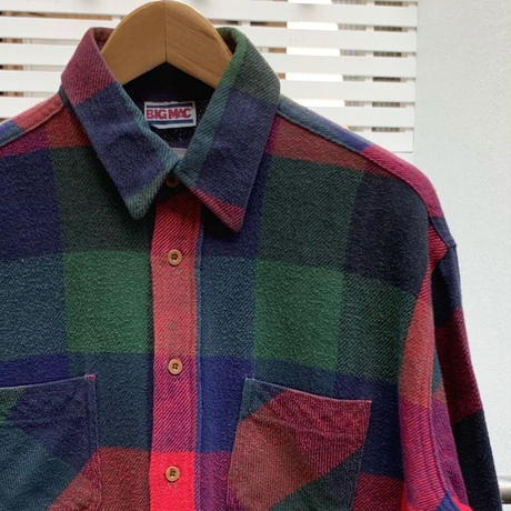 BIG MAC/ビッグマック チェックヘビーネルシャツ 80年代 (USED)