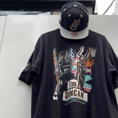 MITCHELL & NESS NBA SPURS TIM DUNCAN/ミッチェルアンドネス サンアントニオスパーズ 21DUNCAN Tシャツ 2021年 (NEW)